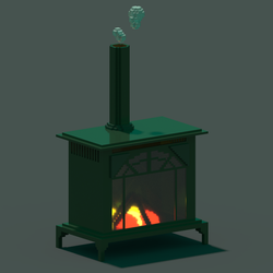 Old Fire place in Voxel by WFpeonix