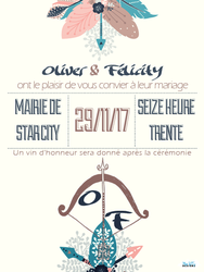 Faire-Part Mariage Fictif 1  by MissKettyDesigns