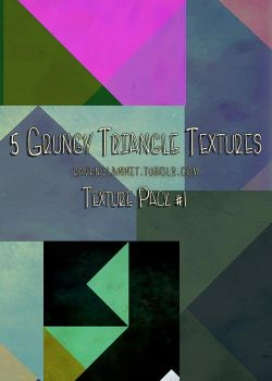 Tumblr Texture Pack #1 - Grungy Triangles by RavenclawWit