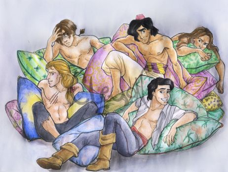 Disney boys boys boys by IreneMartini
