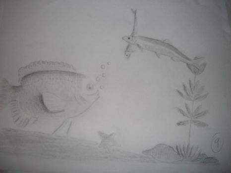 Drawing a fish bowl.. by LaniNila