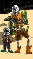 Thundertale Shaun and Shea by ShaunBones42
