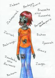 Corrinne the Zombie by corre