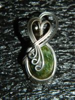 vintage jade cabochon in silver by DPBJewelry