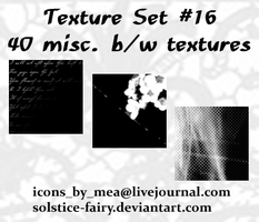Texture Set 16 - Misc. b+w by solstice-fairy