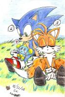 Sonic + Tails - Relaxation by Neko-Kathy