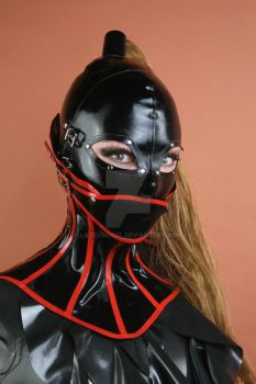 Latex Model - Neck Corset with Detachable Gag by LatexModel