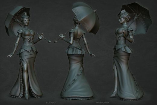 Lady sculpt1 by stalsky