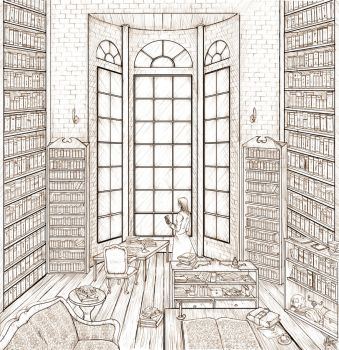 The Mage in His Library -lines by AkaiSoul