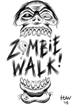 Zombie Walk 2015 Unretouched Inks by Huwman