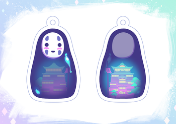 No Face Charm by Qesque