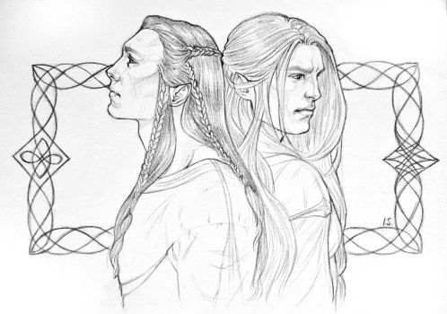 Fingon and Maedhros - Their ancient friendship  by IngvildSchageArt