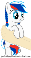 Country-Pony (Russia) on hands by JustisAnimation