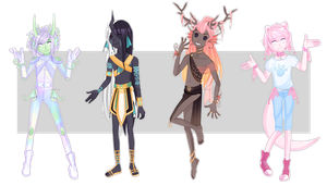 Dextro adopts: Fantasy boys CLOSED by Lunathyst