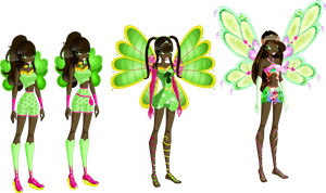 Winx OC: Luckila, Fairy of Luck by Gerganafen