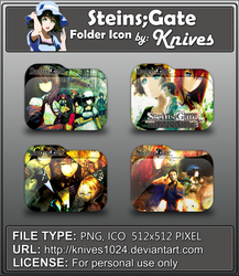 Steins,Gate Anime Folder Icon by Knives by knives1024