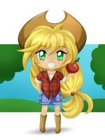 Apple Jack Chibi by Auguratricis