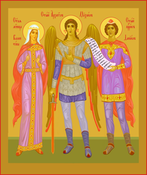 Saints Valentine, Michael, Daniel by yellika