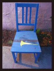 blue chair by redtrain66