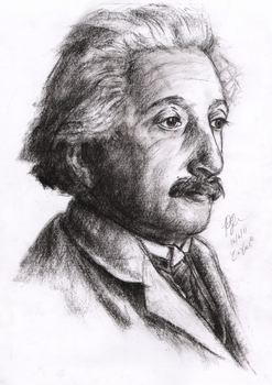 Einstein sketch by Yuanchosaan