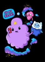 Lumpy Space Princess with Finn and Jake by supertoki