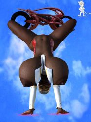 Hanging High Nude by Chup-at-Cabra