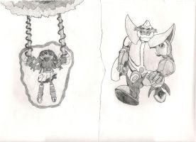 Krental and Robotnik by dagothagahnim