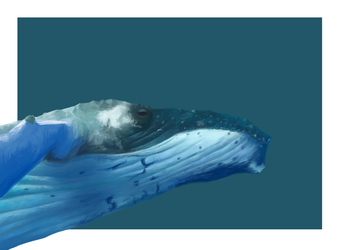 Humpback whale by LeiaSioux