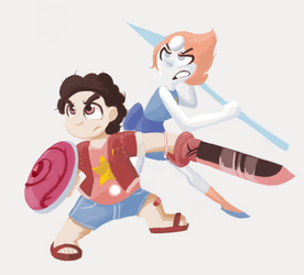 Steven and Pearl by Scarlet-Ajani