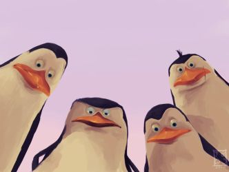 The Penguins by Yllaella