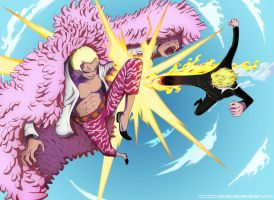 One Piece 723  Sanji Vs Doflamingo Request By  by Eguiamike