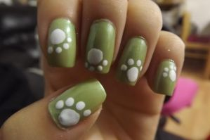 Puppy paw nails by xsheervanilla