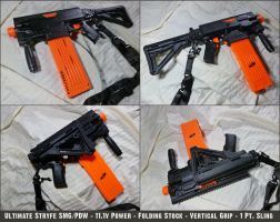 Ultimate NERF Stryfe SMG/PDW by MarcWF