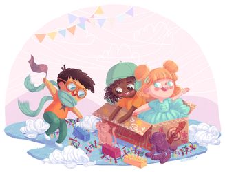 digital illustration | kids imagination by greenmaggot