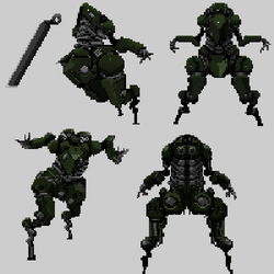 battle Mech Poses by franswerfer