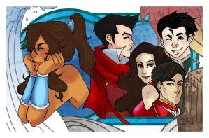 Legend of Korra and her Krew by Hinapouri