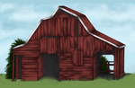 Red Barn by ClearWillow