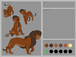 Lion King base 45~Male Lion Reference Base~ by Xbox-DS-Gameboy