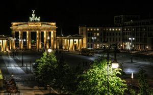 Berlin - Paris Place at Night by pingallery