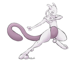 -Pokemon- Mewtwo by Godspoison