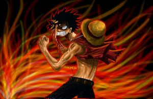 OP - Angry Luffy -coloured- by ShinyZango