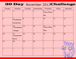 November 30 day challenge by CyndraofShadowClan