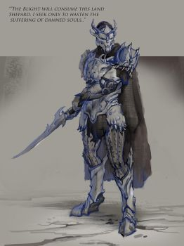 Saren Sketch by AndrewRyanArt