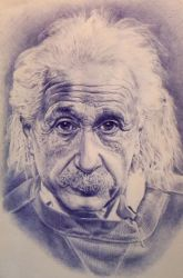 Albert Einstein by AmrasWorld