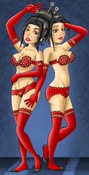 chinese twins by El-Jerko
