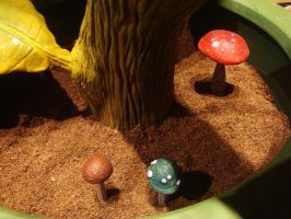 Super, 1-UP, Goomba Mushrooms by Kalapusa