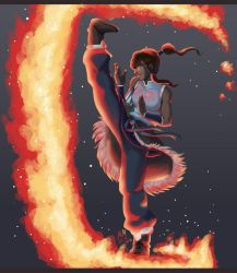 Legend of Korra - The girl with fire by kiwii