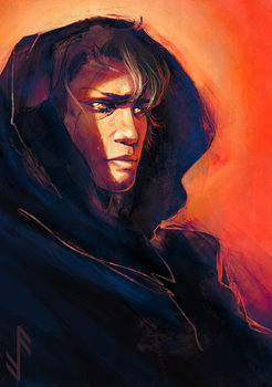 Anakin's fall to the Dark Side by Aquila--Audax