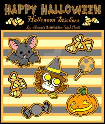More Halloween Stickers by Pandarat