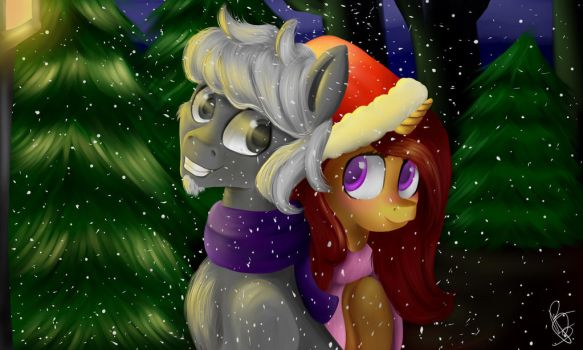 Christmas Night (with Background) by BelindaFourbery